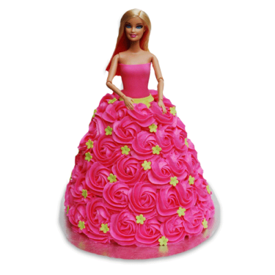 PINK SWIRLING GOWN CAKE