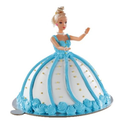 Barbie Doll Blue Cake