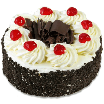 CHERRIES AND CHOCO-SHAVING CAKE